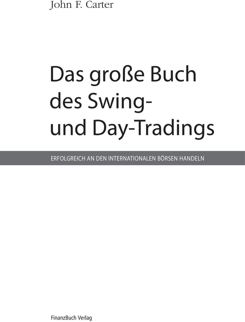 Swing- und Day-Tradings