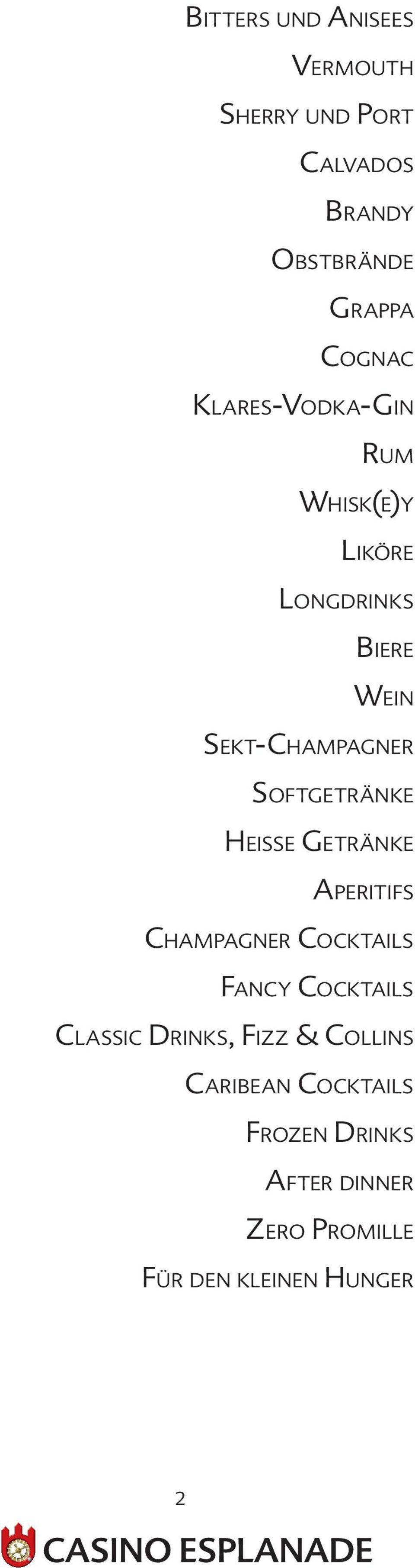 Heisse Getränke Aperitifs Champagner Cocktails Fancy Cocktails Classic Drinks, Fizz &
