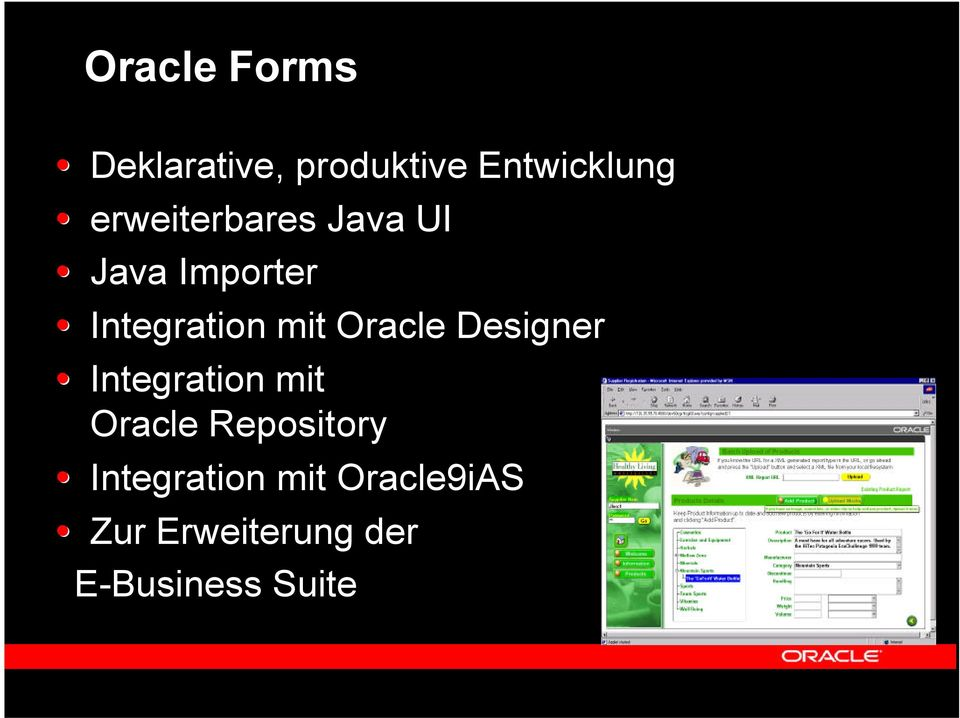 Oracle Designer Integration mit Oracle Repository
