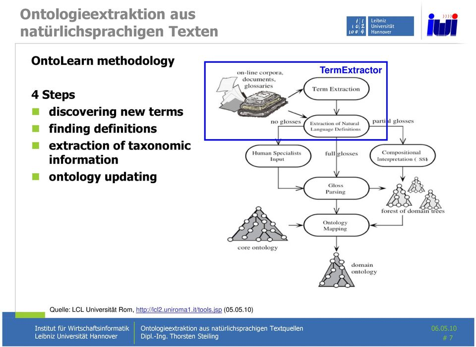 of taxonomic information ontology updating Quelle: LCL Universität Rom,