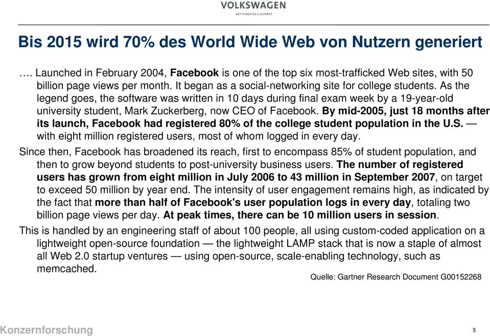 As the legend goes, the software was written in 10 days during final exam week by a 19-year-old university student, Mark Zuckerberg, now CEO of Facebook.