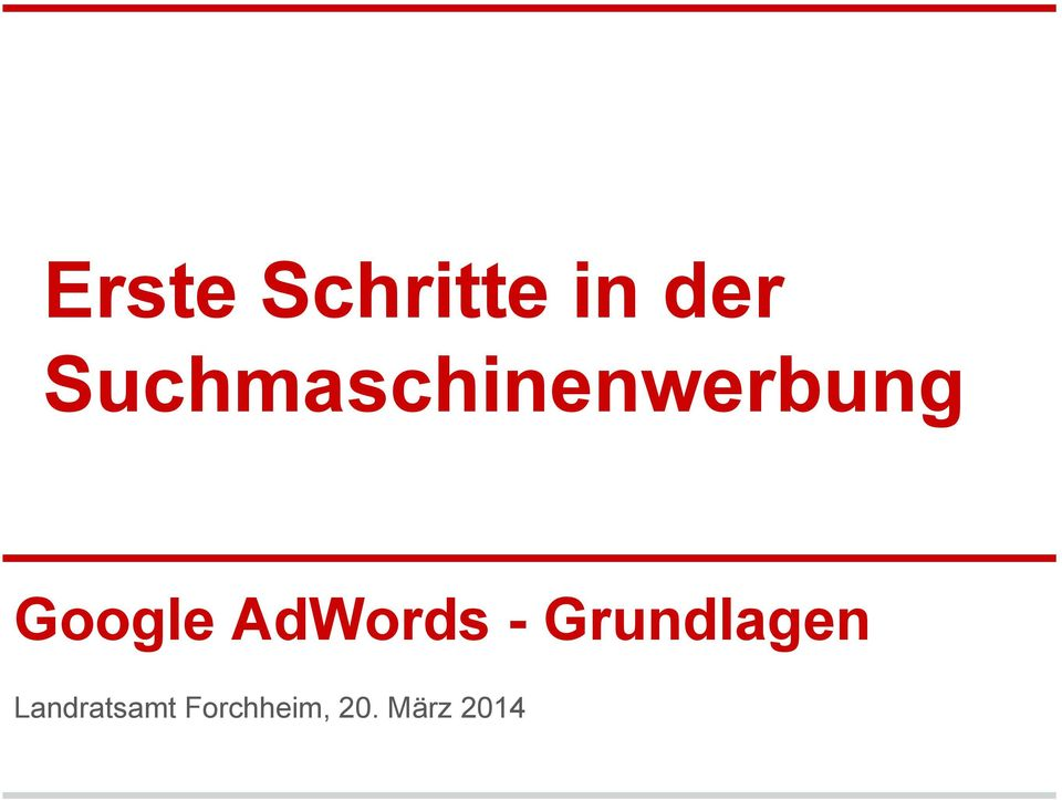 Google AdWords -