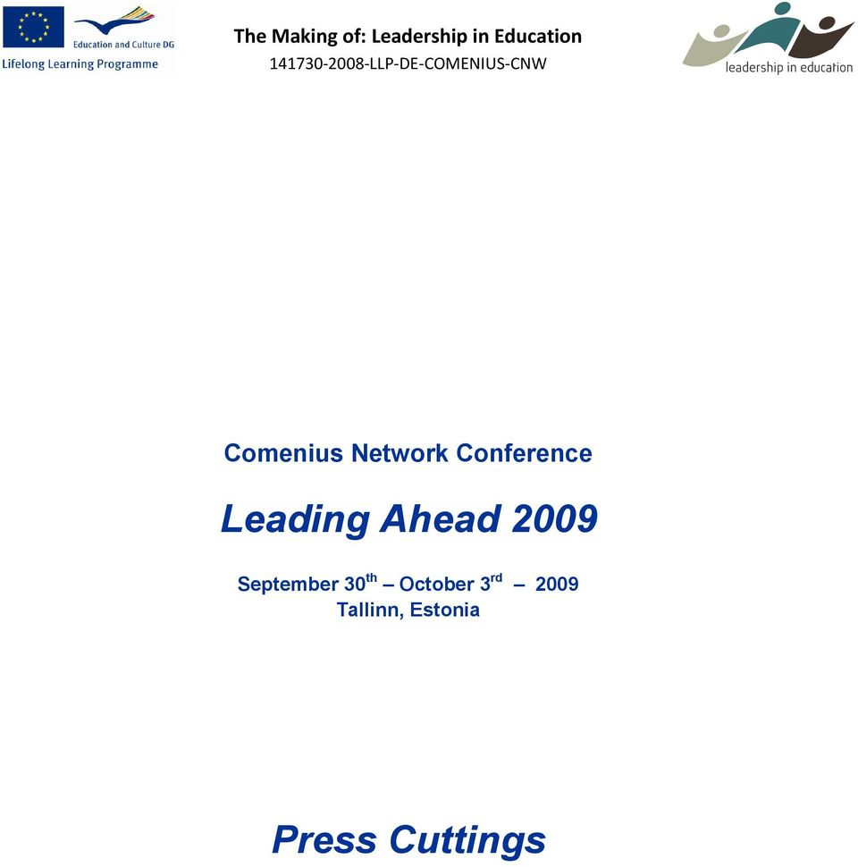 Network Conference Leading Ahead 2009