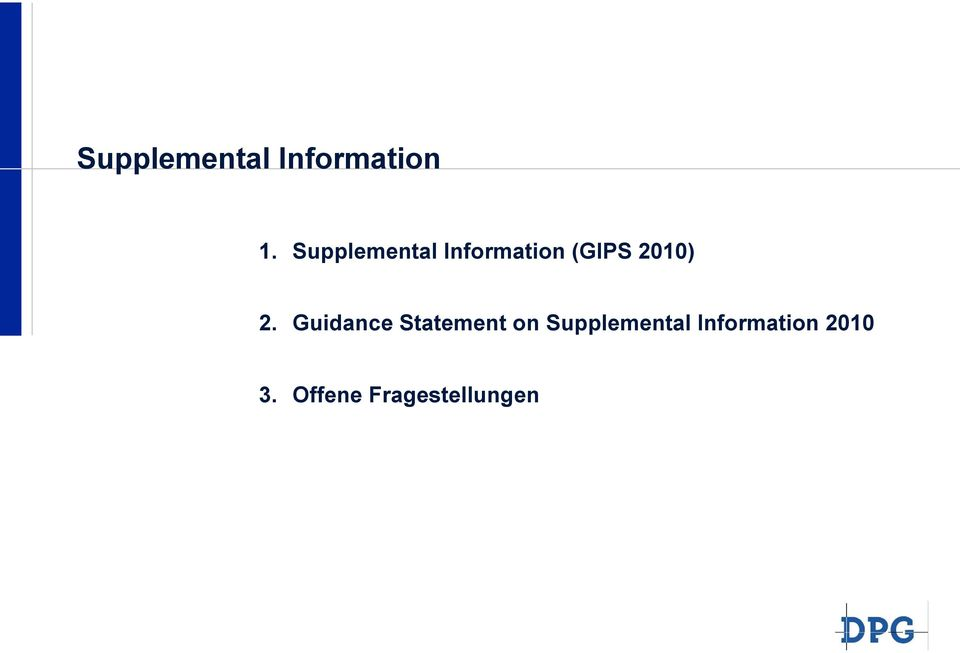 2. Guidance Statement on