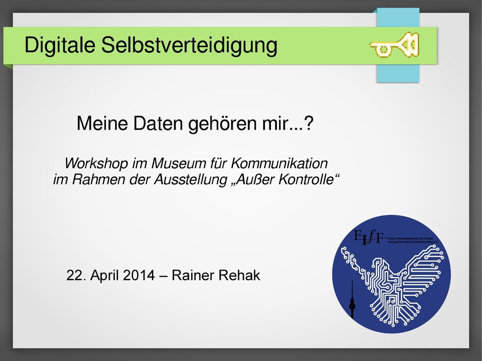 ..? Workshop im Museum für Kommunikation