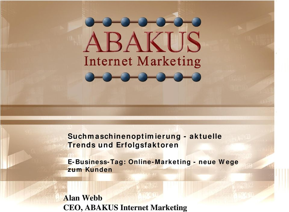 E-Business-Tag: Online-Marketing - neue