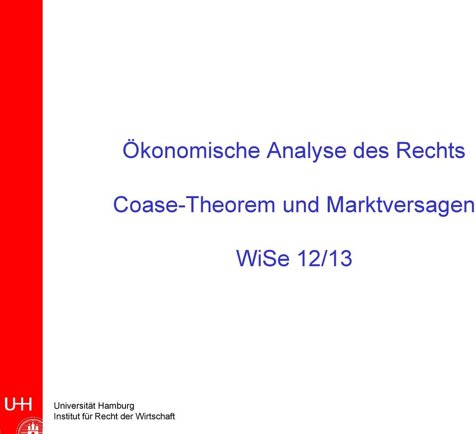 Coase-Theorem und