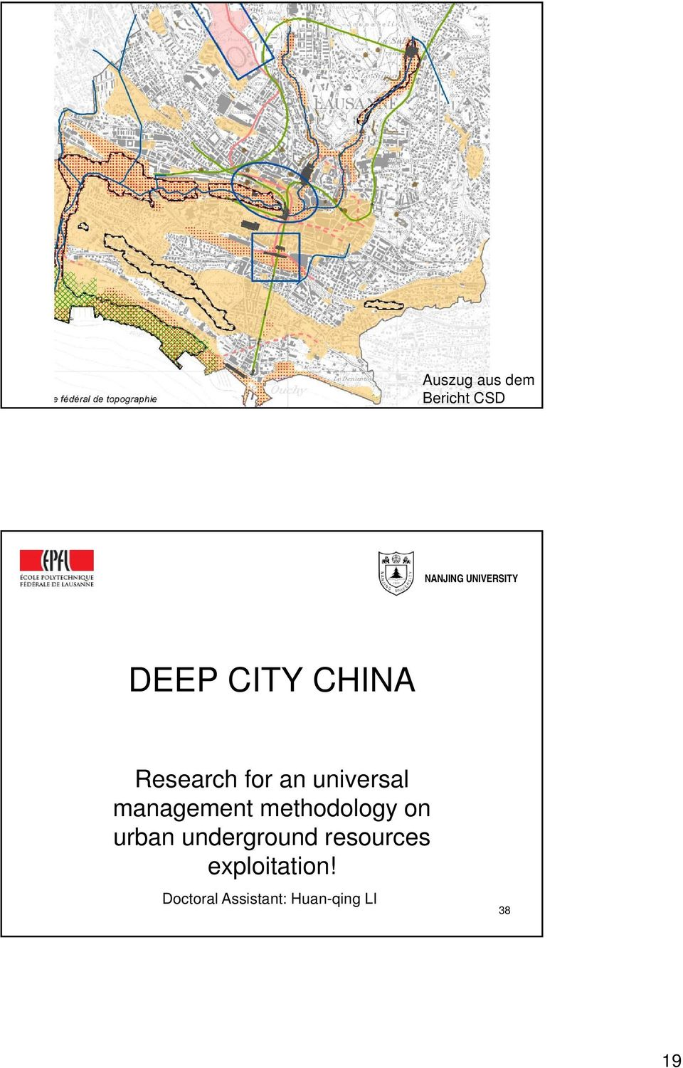 management methodology on urban underground