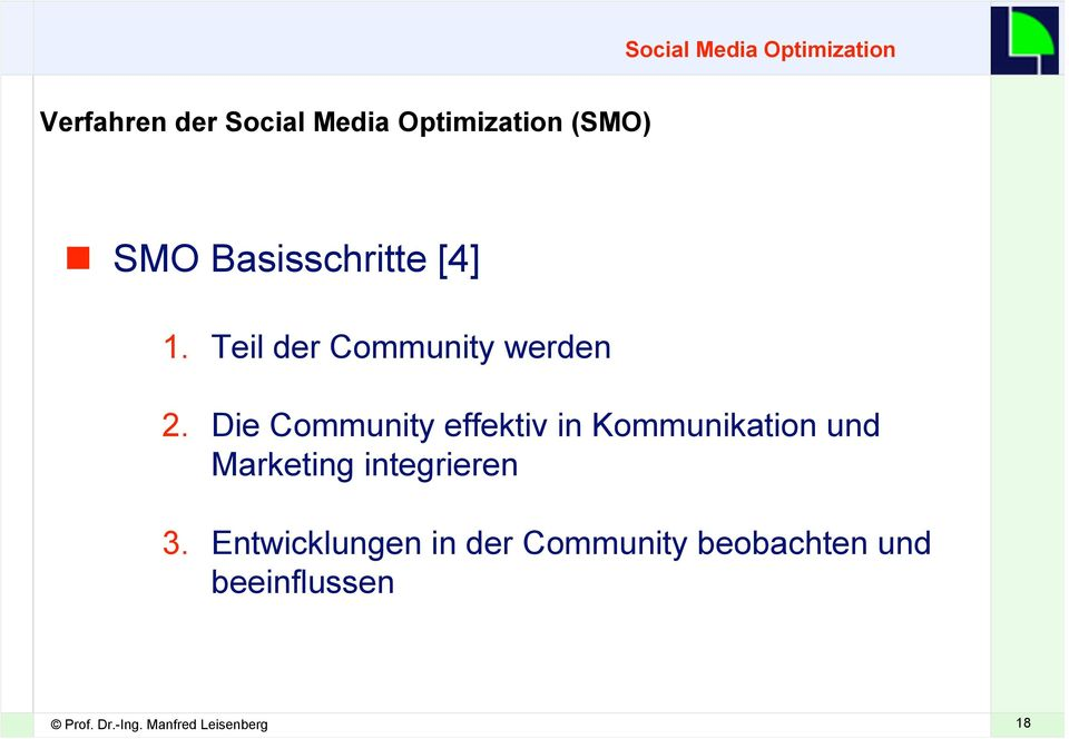 Die Community effektiv in Kommunikation und Marketing integrieren 3.