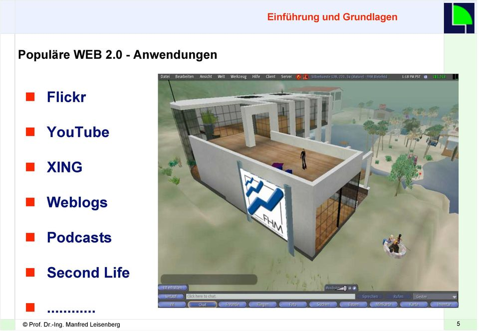 0 - Anwendungen Flickr YouTube XING