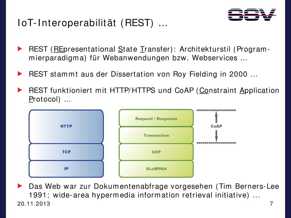 Webservices REST stammt aus der Dissertation von Roy Fielding in 2000 REST funktioniert mit HTTP/HTTPS