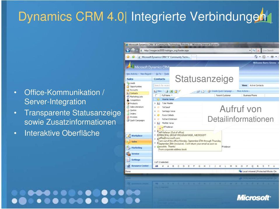 Office-Kommunikation / Server-Integration g