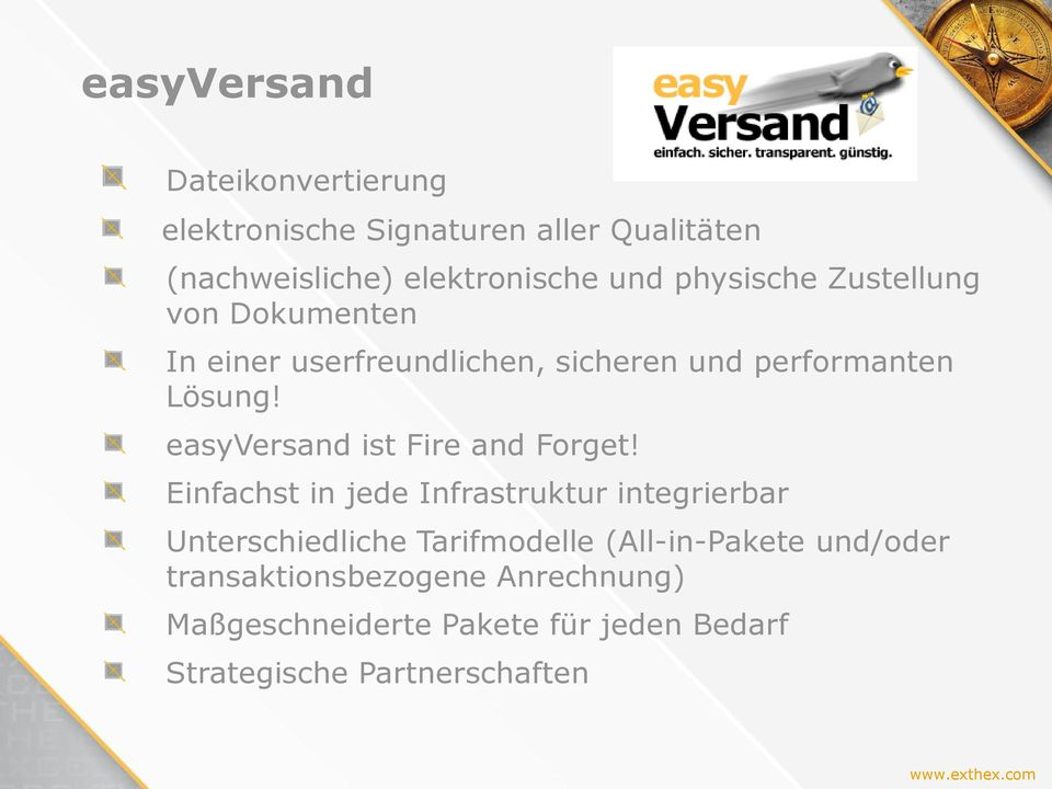 easyversand ist Fire and Forget!