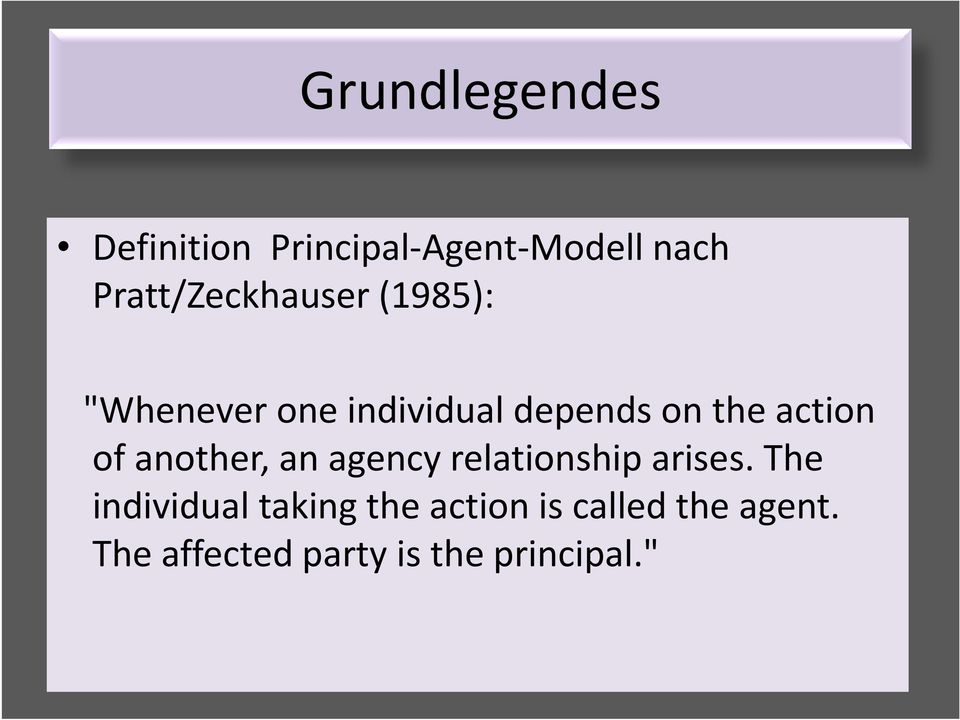 action of another, an agency relationship arises.