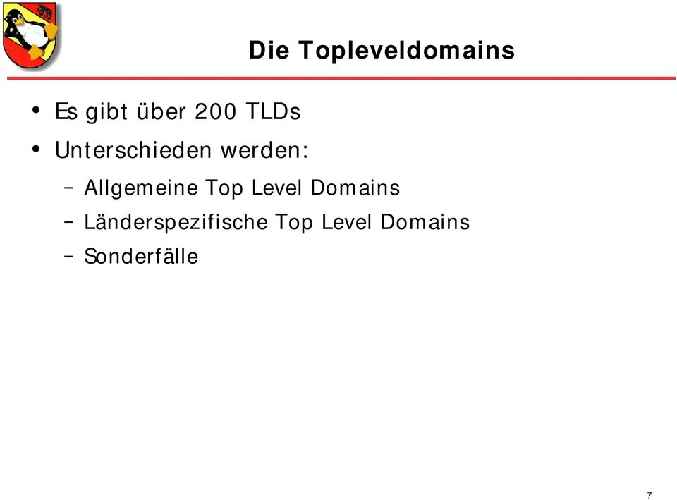 eine Top Level Dom ains
