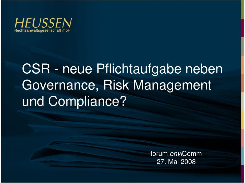 Management und Compliance?