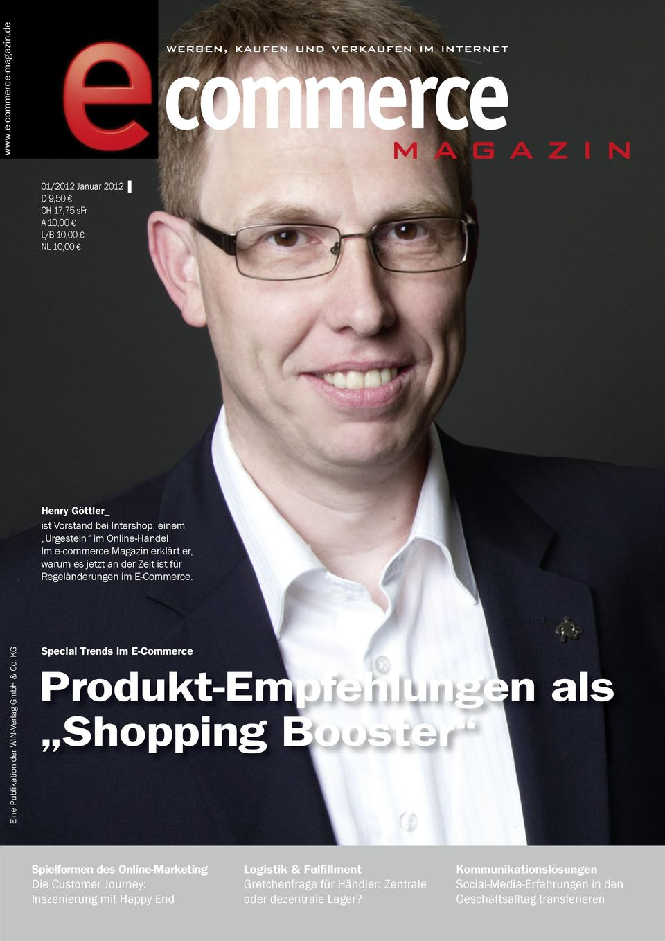 KG Special Trends im E-Commerce Produkt-Empfehlungen als Shopping Booster Spielformen des Online-Marketing Die Customer Journey: Inszenierung mit Happy