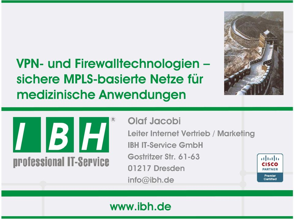 Internet Vertrieb / Marketing IBH IT-Service GmbH
