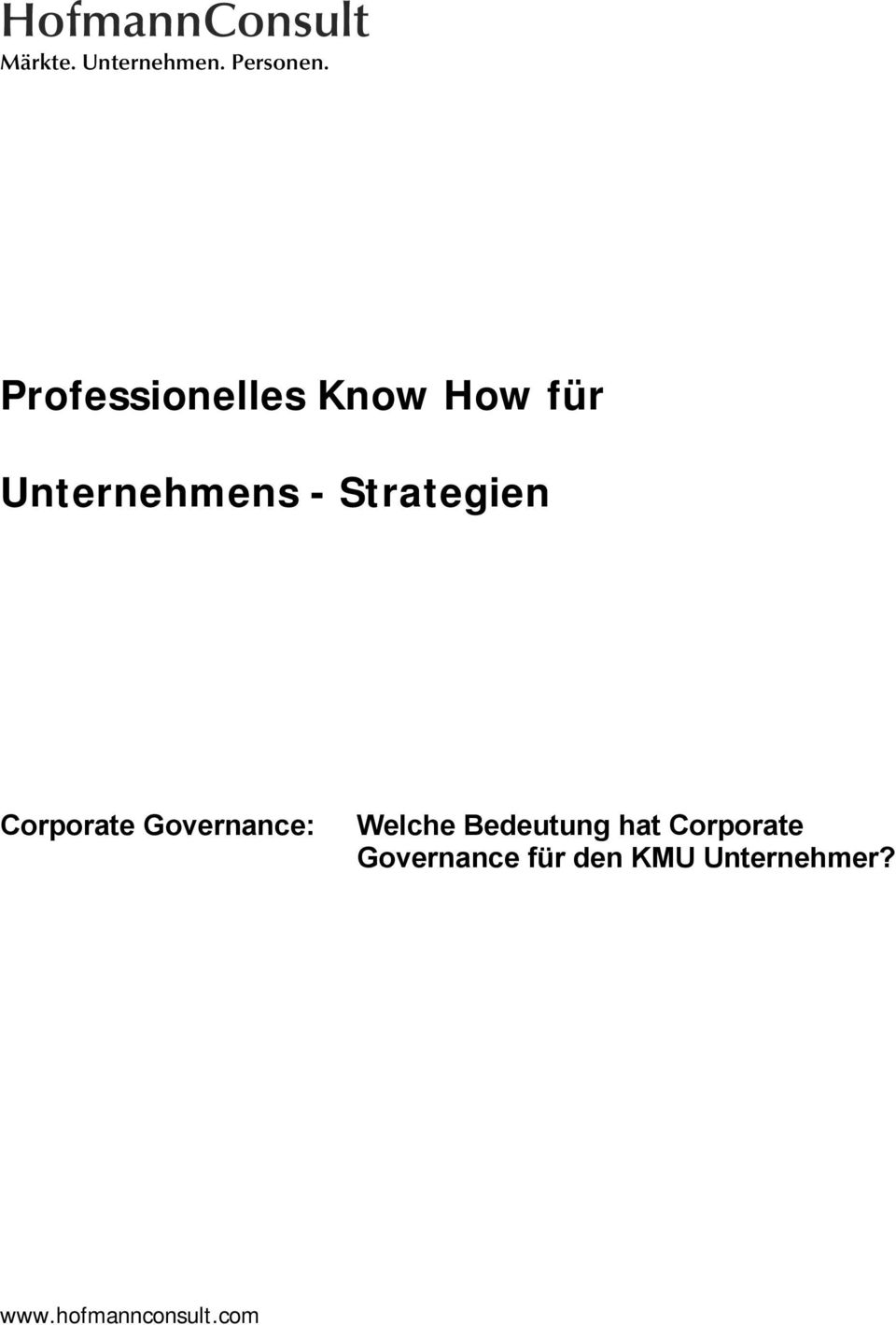 Strategien Corporate Governance: Welche Bedeutung