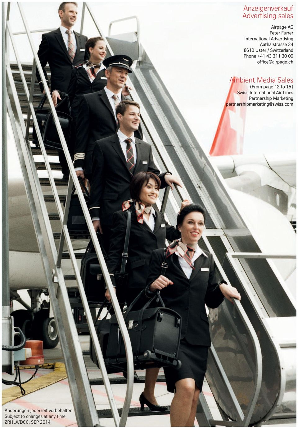 ch Ambient Media Sales (From page 12 to 15) Swiss International Air Lines Partnership