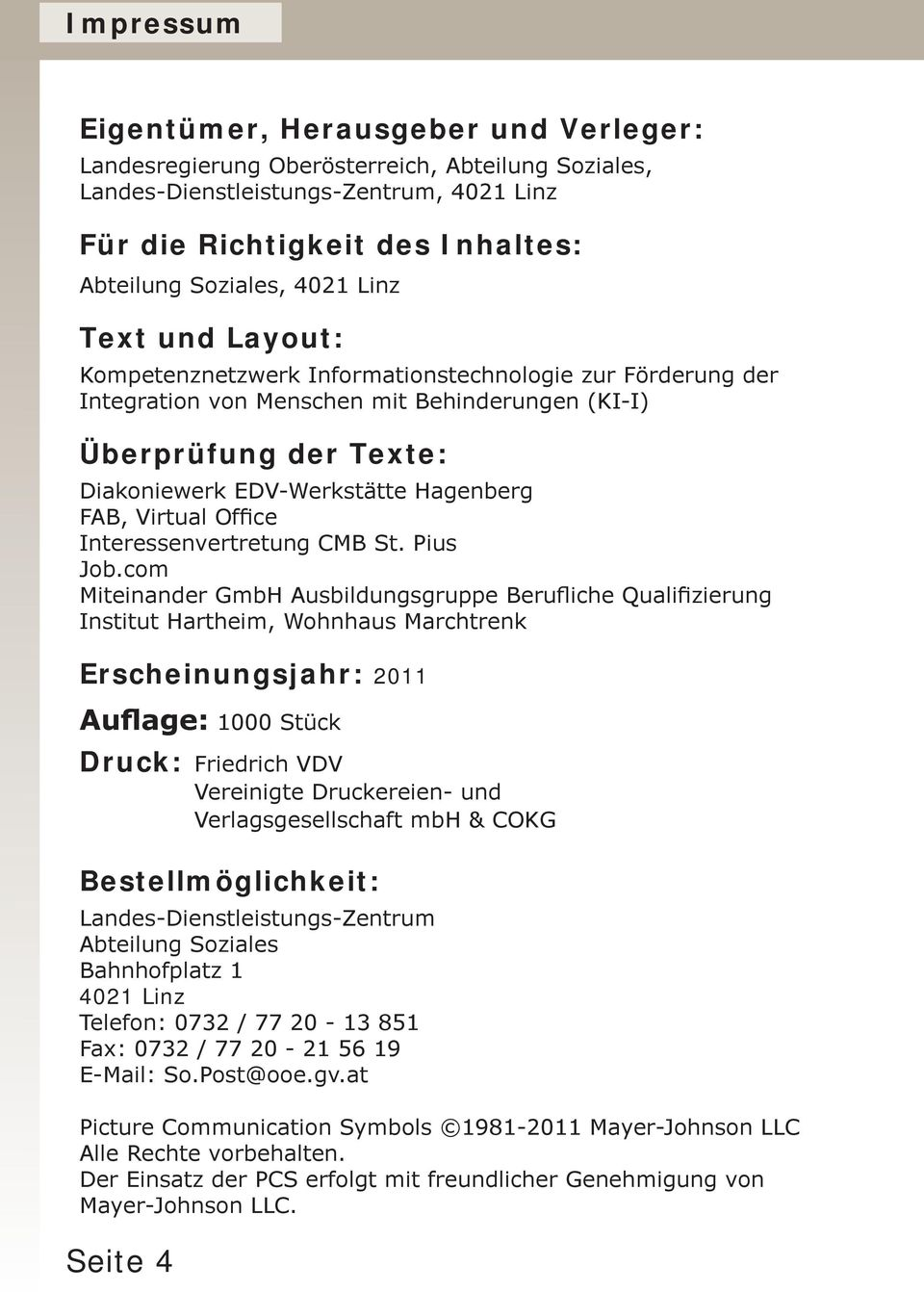 FAB, Virtual Office Interessenvertretung CMB St. Pius Job.