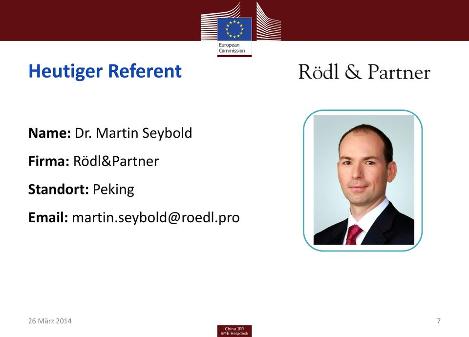 Rödl&Partner Standort: Peking