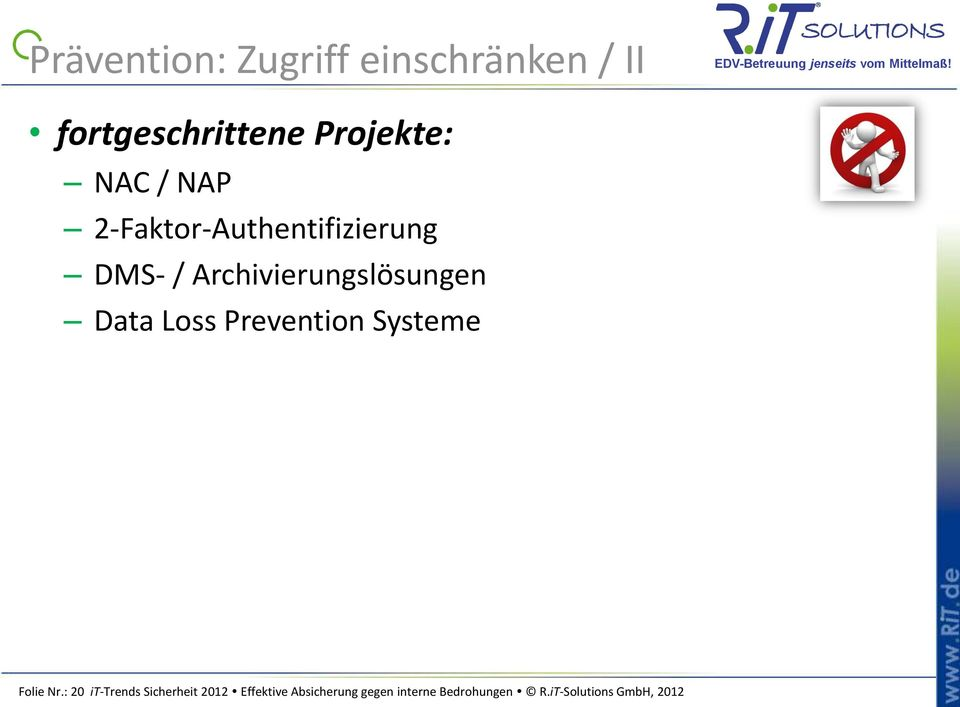 Loss Prevention Systeme Folie Nr.