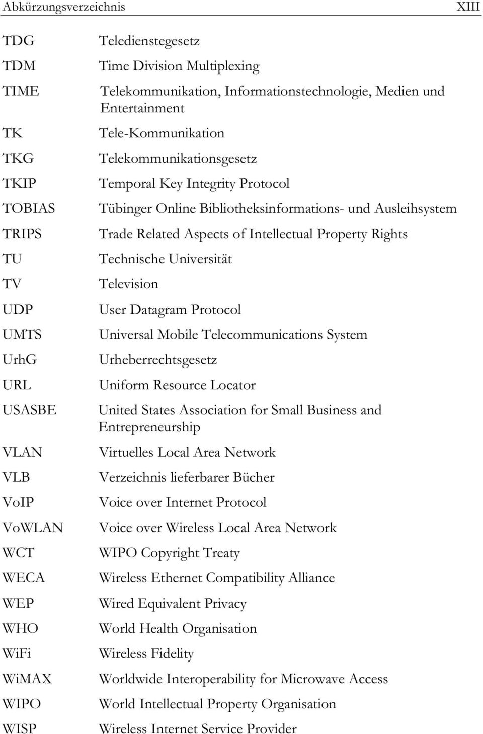 Ausleihsystem Trade Related Aspects of Intellectual Property Rights Technische Universität Television User Datagram Protocol Universal Mobile Telecommunications System Urheberrechtsgesetz Uniform