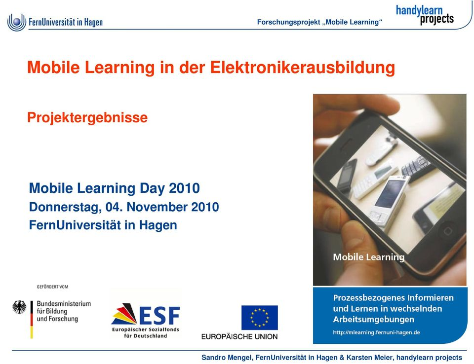 Projektergebnisse Mobile Learning