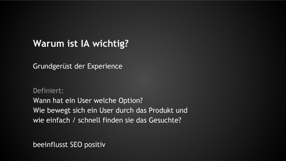 User welche Option?