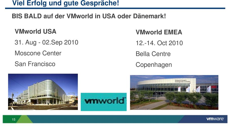 VMworld USA 31. Aug - 02.