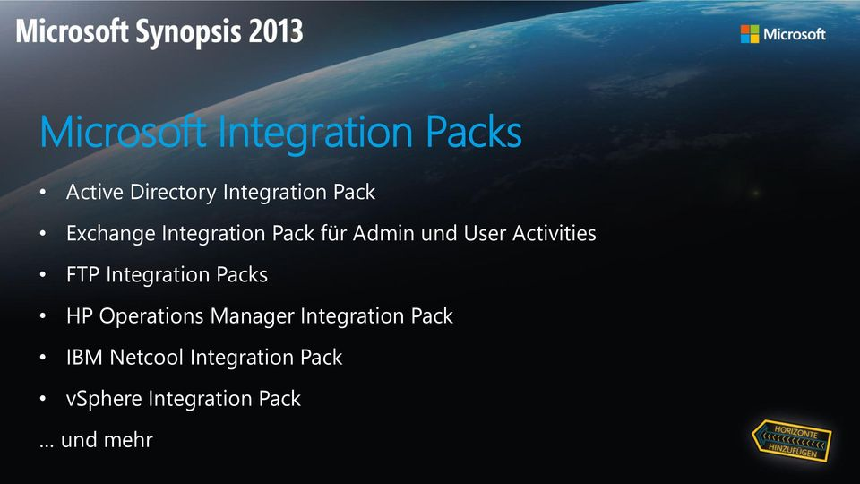 FTP Integration Packs HP Operations Manager Integration Pack