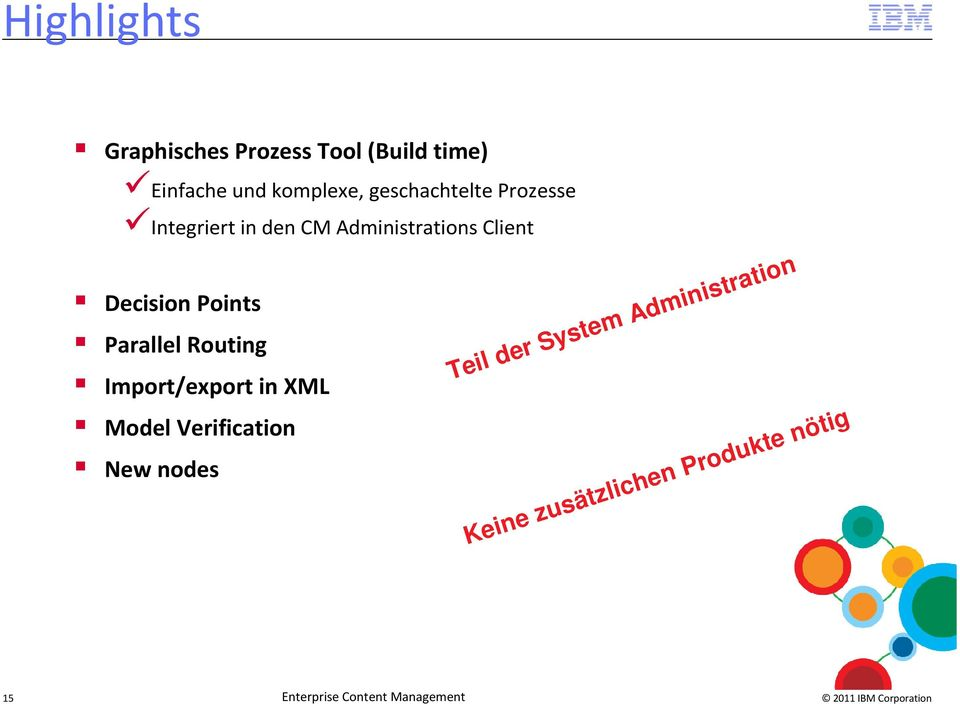 Points Parallel Routing Import/export in XML Model Verification New nodes Teil