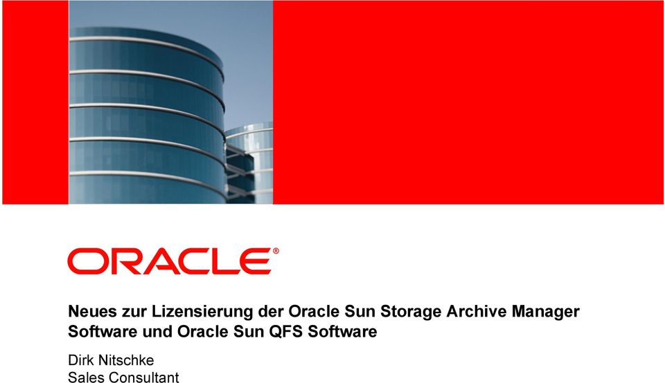 Archive Manager Software und Oracle