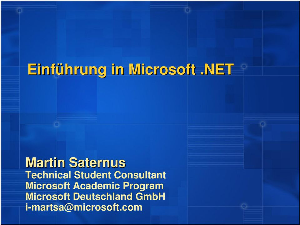 Technical Student Consultant Microsoft
