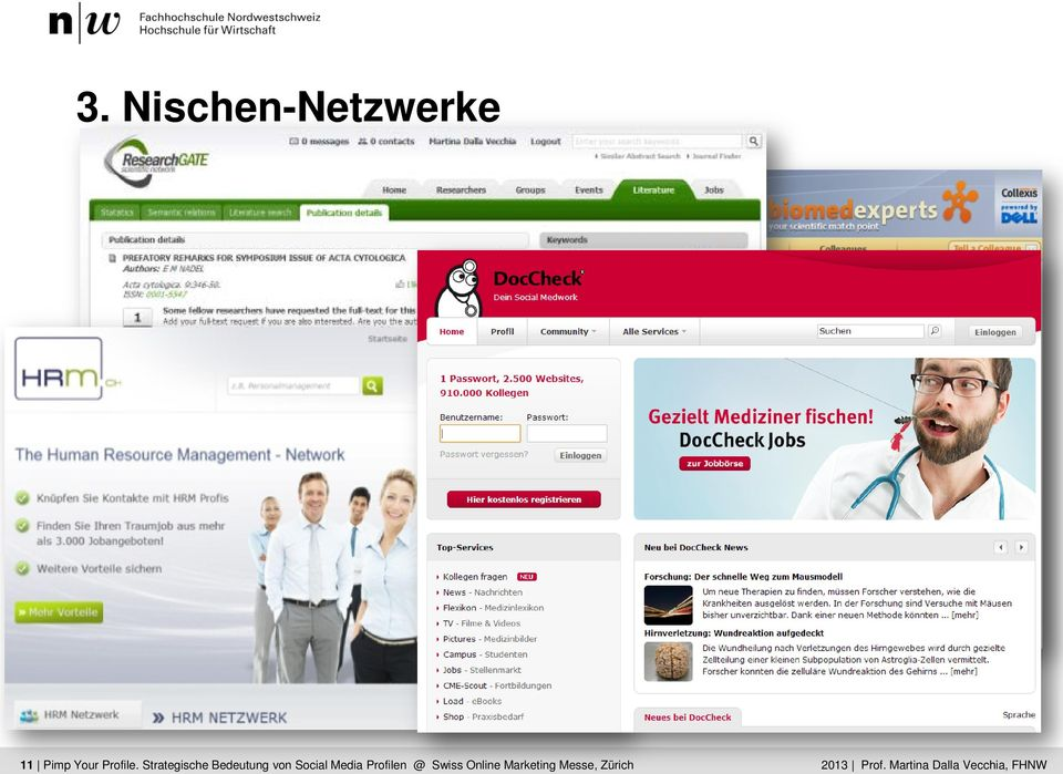 Dalla Media Vecchia Profilen @ Swiss Online Marketing Messe,