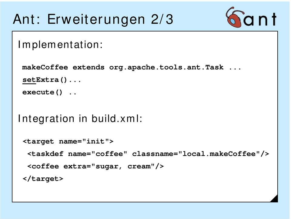 . Integration in build.