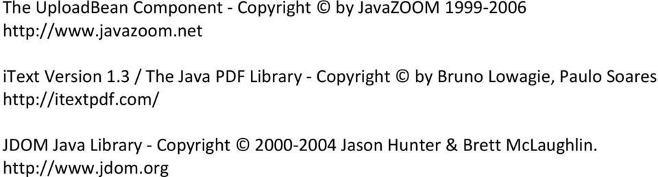 3 / The Java PDF Library - Copyright by Bruno Lowagie, Paulo Soares
