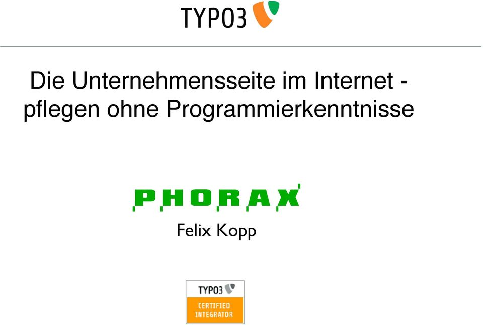 Internet - pflegen