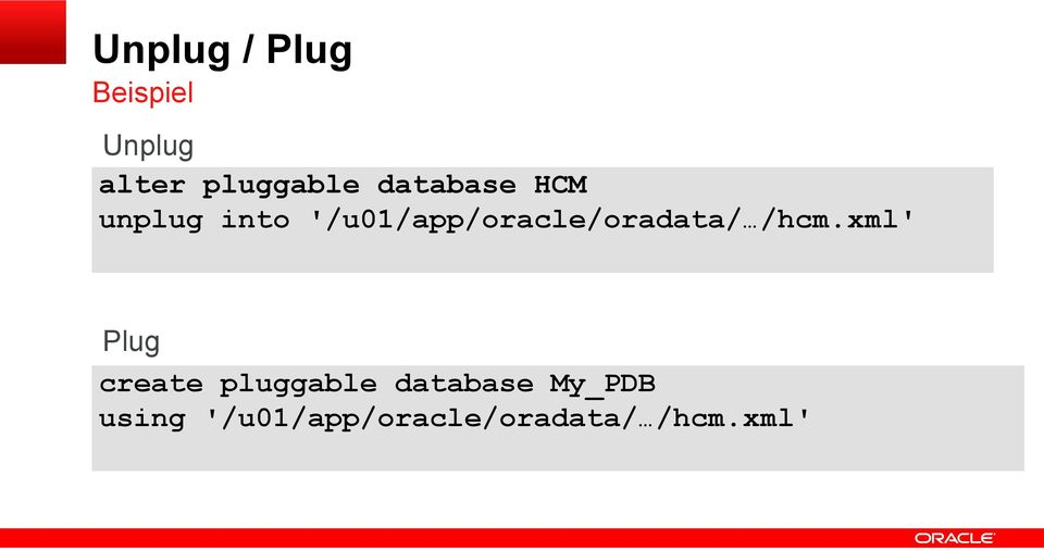 '/u01/app/oracle/oradata/ /hcm.