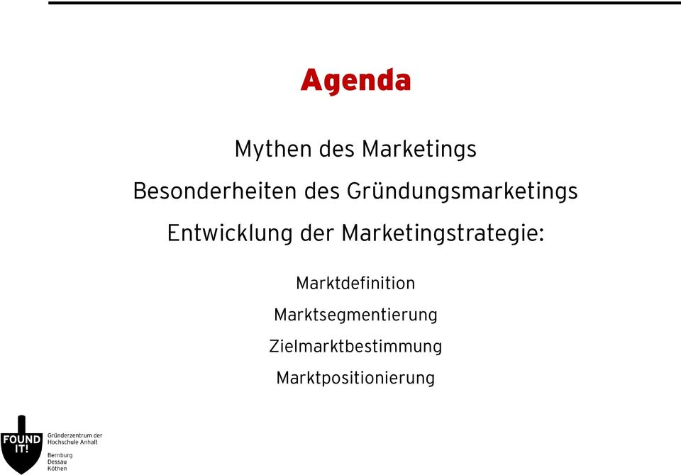 Marketingstrategie: Marktdefinition