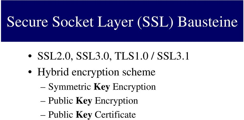 1 Hybrid encryption scheme Symmetric Key