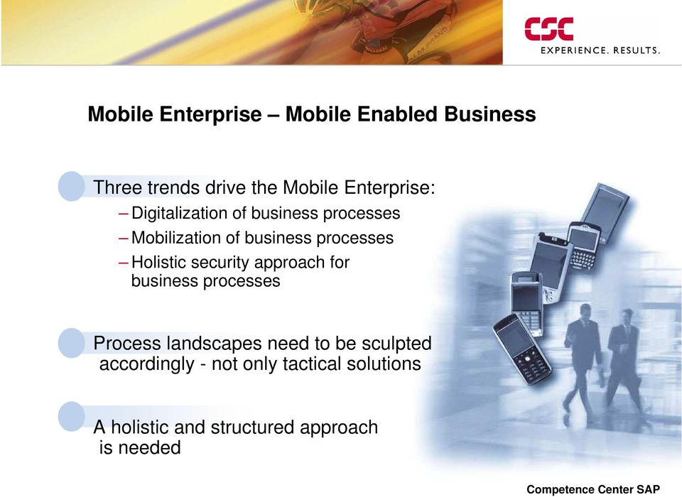 approach for business processes Process landscapes need to be sculpted
