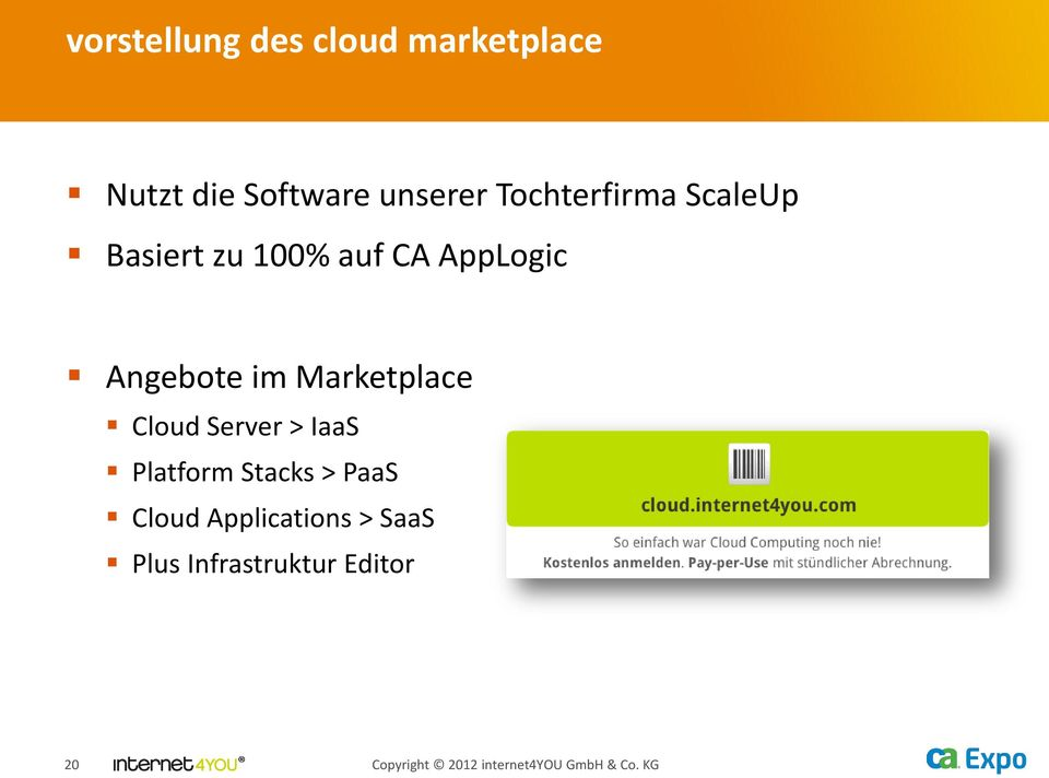 Marketplace Cloud Server > IaaS Platform Stacks > PaaS Cloud