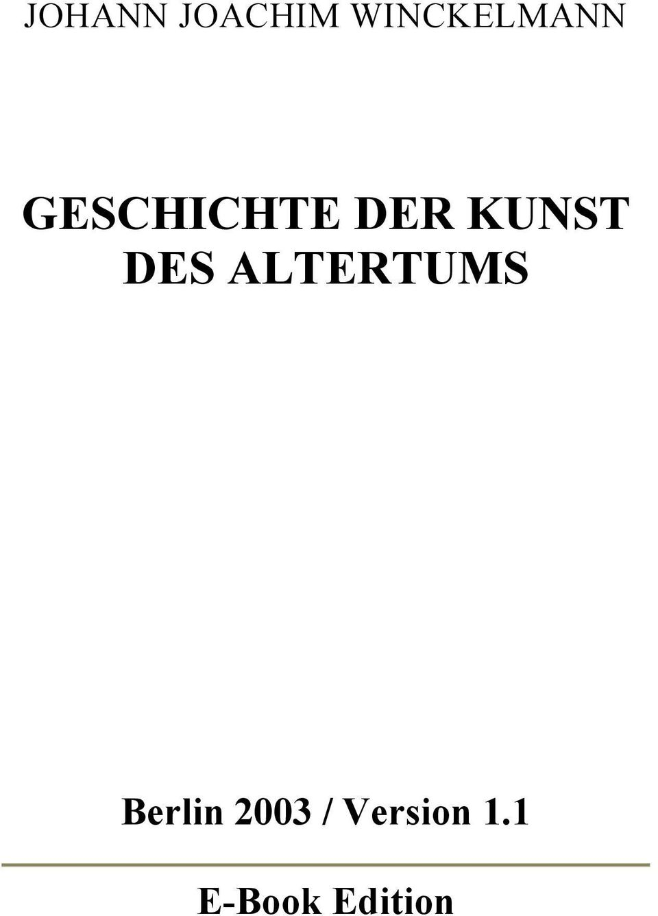 DER KUNST DES ALTERTUMS