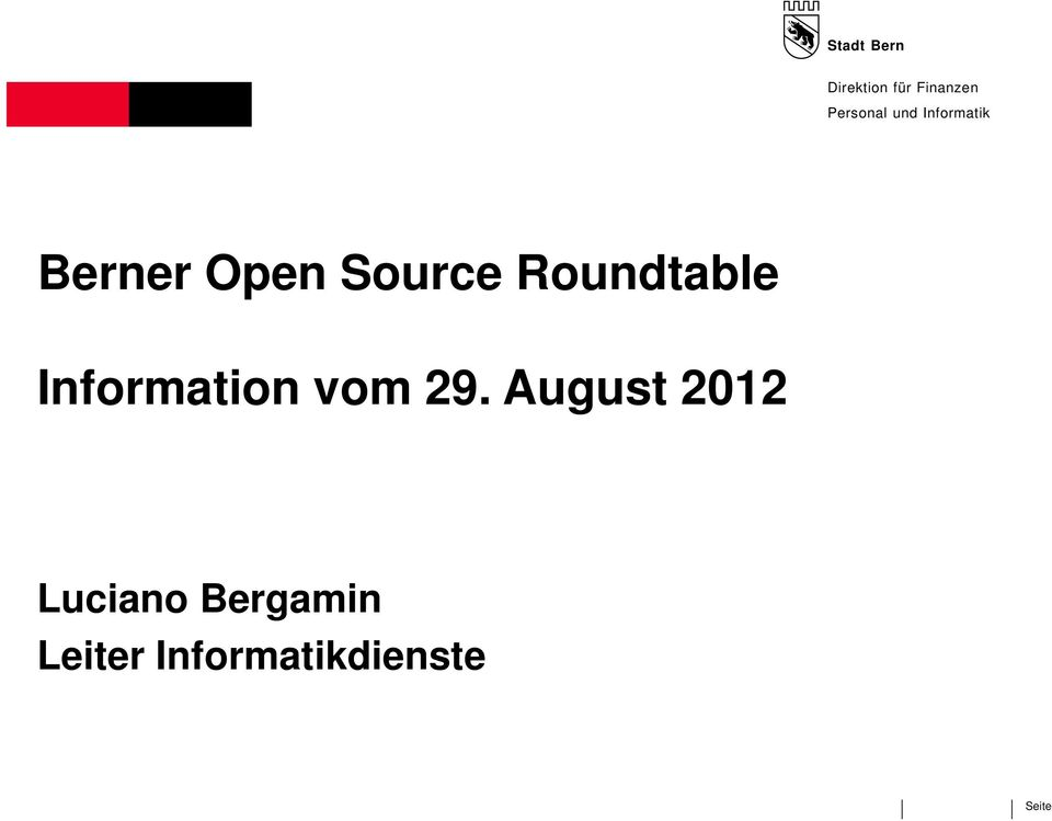 Roundtable Information vom 29.