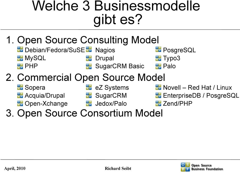 Commercial Open Source Model Sopera Acquia/Drupal Open-Xchange 3.
