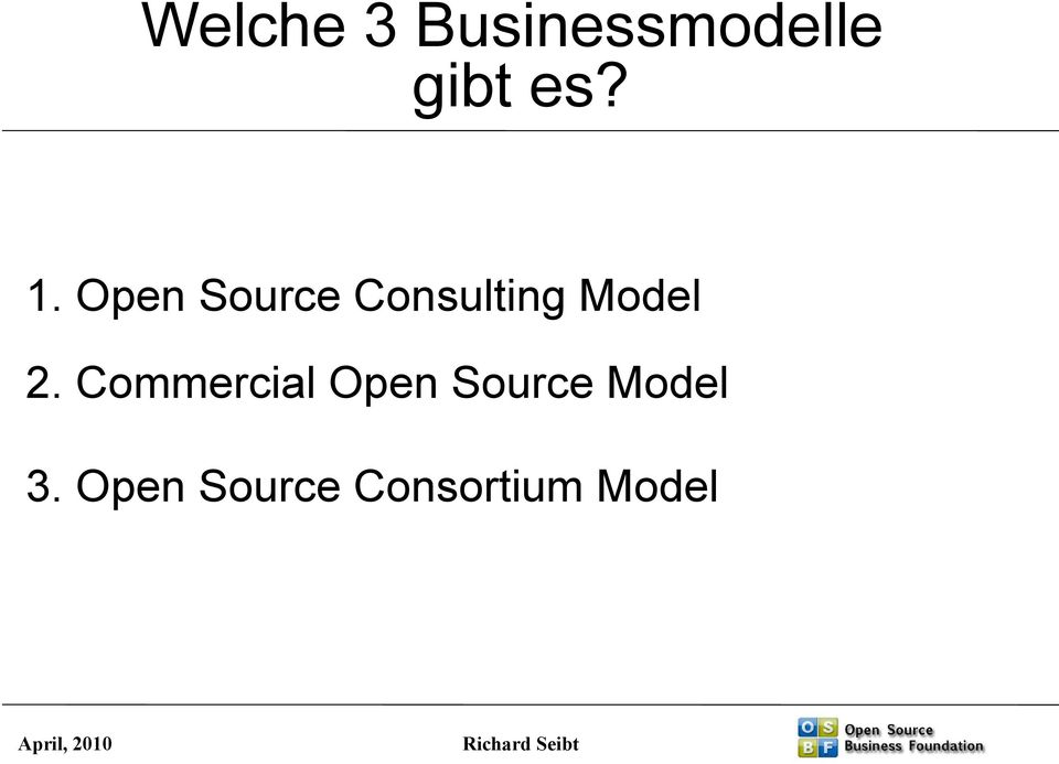 2. Commercial Open Source Model