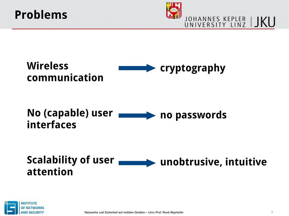 interfaces no passwords Scalability