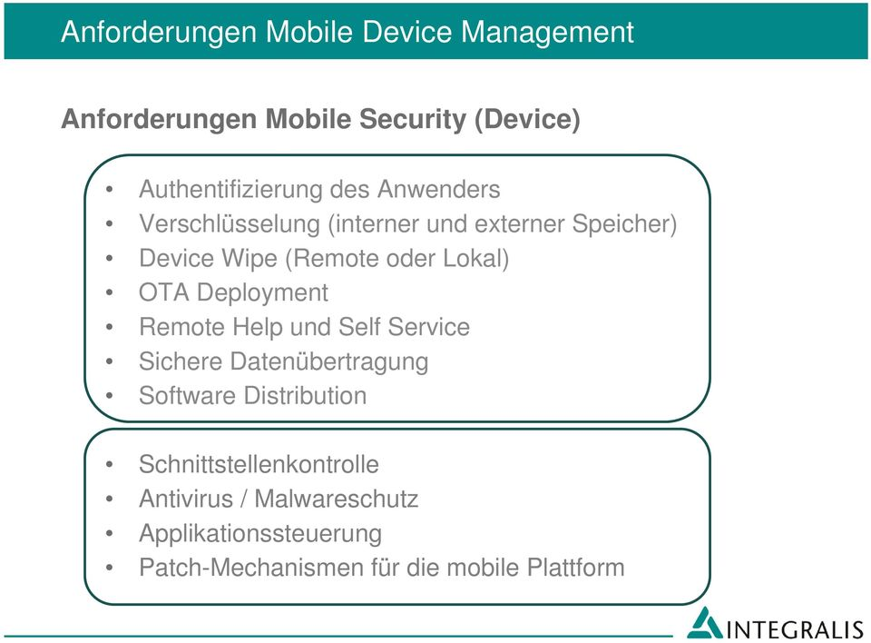 Deployment Remote Help und Self Service Sichere Datenübertragung Software Distribution